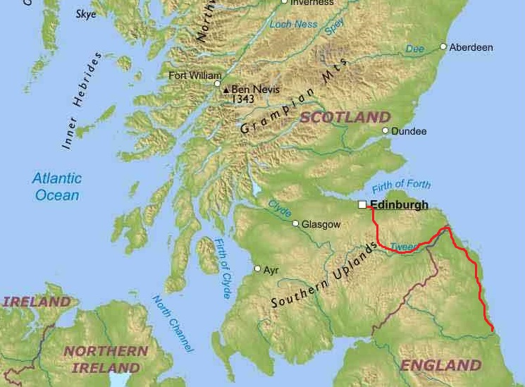 Coast and Castles cycle tour map