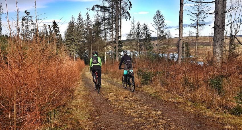 Gravel biking route